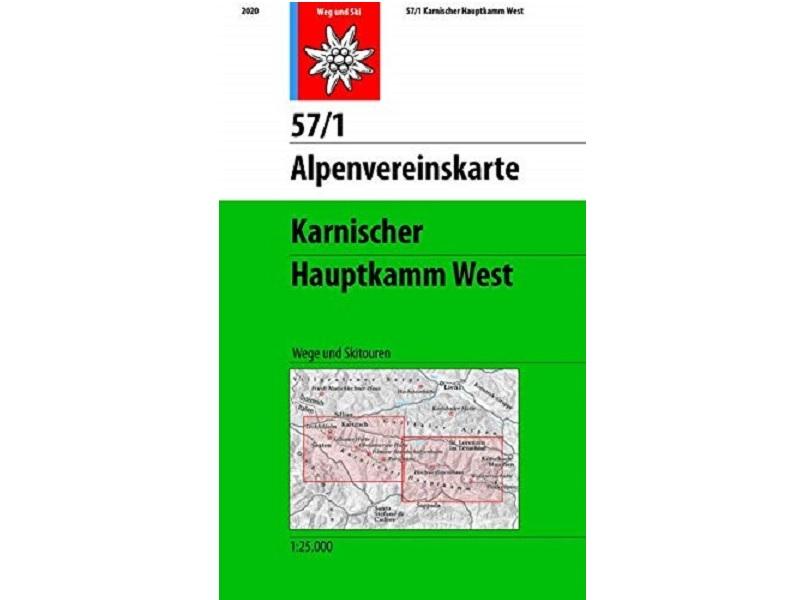 Alpenvereinskarte 57/1, Karnischer Hauptkamm West