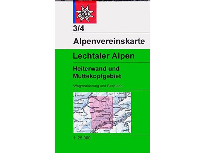Alpenvereinskarte 3/4, Lechtaler Alpen - Heiterwand