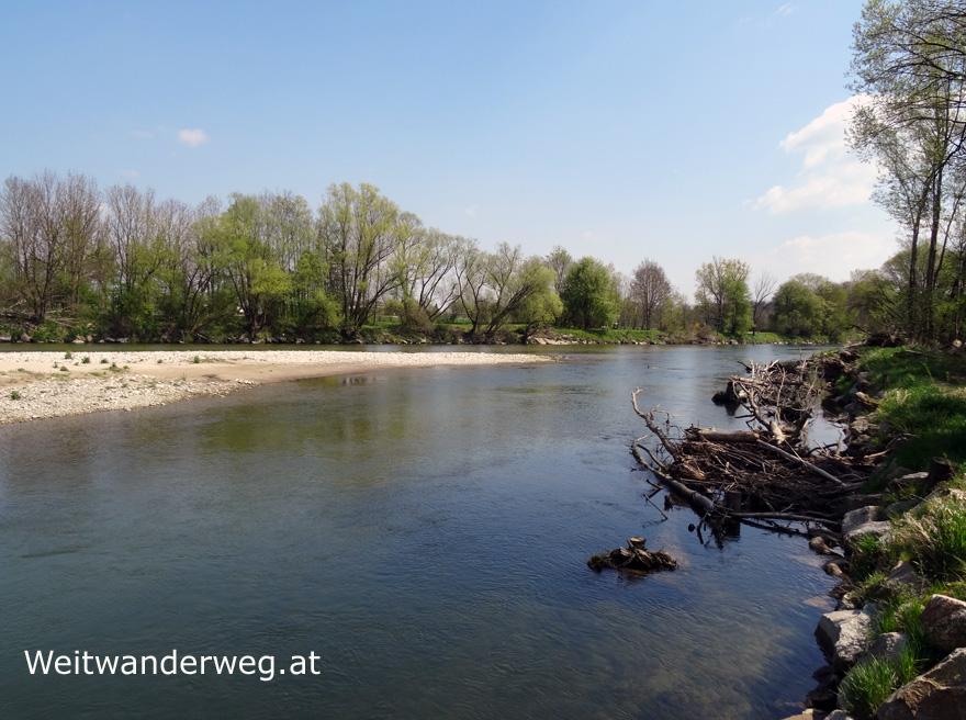 Fluß Ybbs bei Amstetten