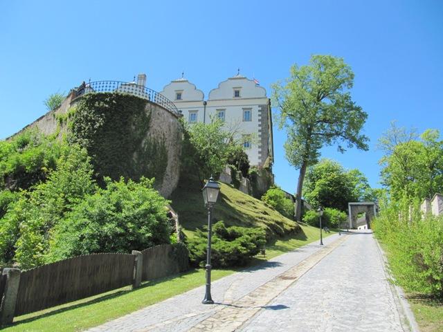 Weg auf die Burg Weitra, Waldviertel