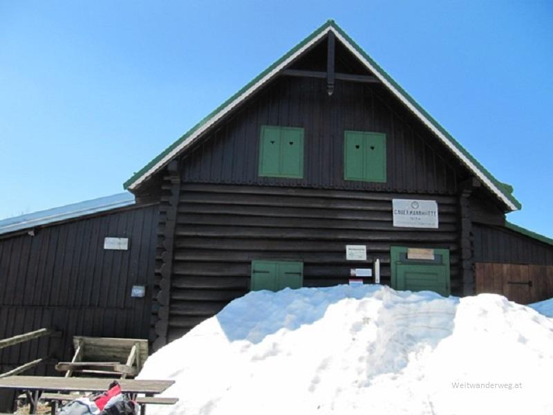 Gauermannhütte Anfang April 2013