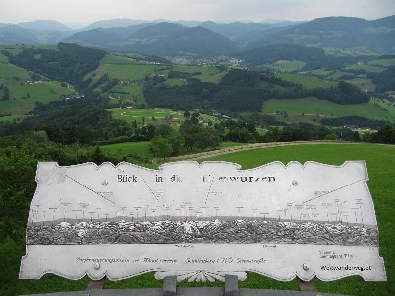 Ausblick vom Sonntagberg im Mostvierte, Niederösterreich