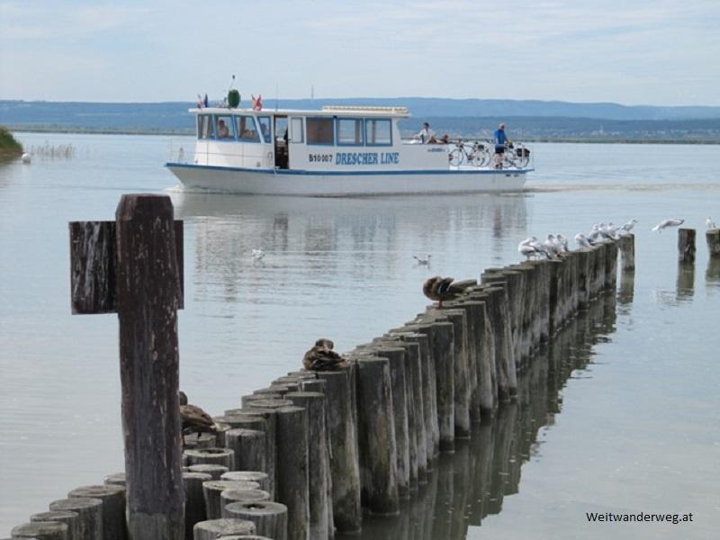 Hafen Illmitz am Neusiedlersee im Burgenland