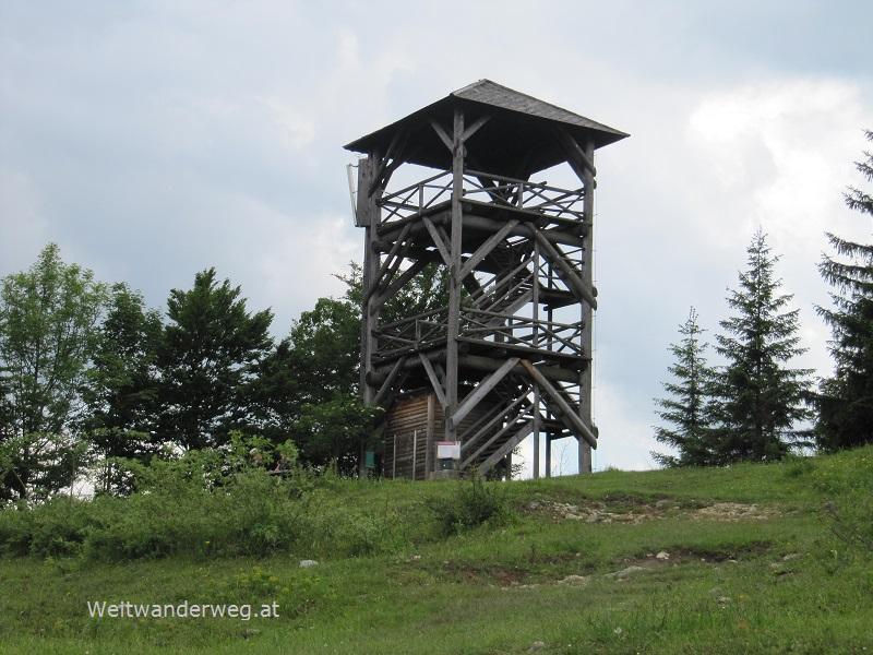 Aussichtsturm auf dem Hochbärneck im Ötscherland