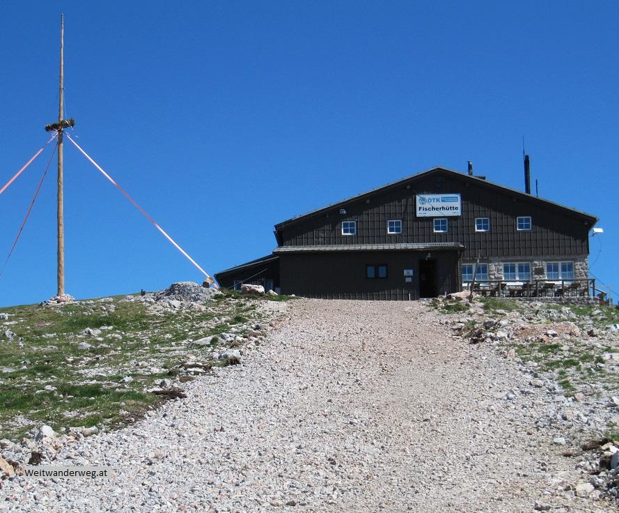 Die Fischerhütte auf dem Schneeberg