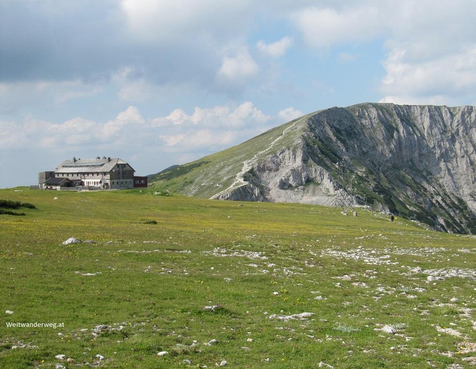 Karl-Ludwig-Haus auf der Rax im Sommer