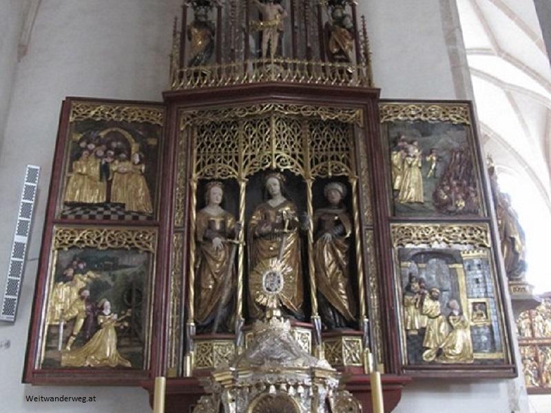 Altar in der Kirche Schönbach, Waldviertel, Niederösterreich