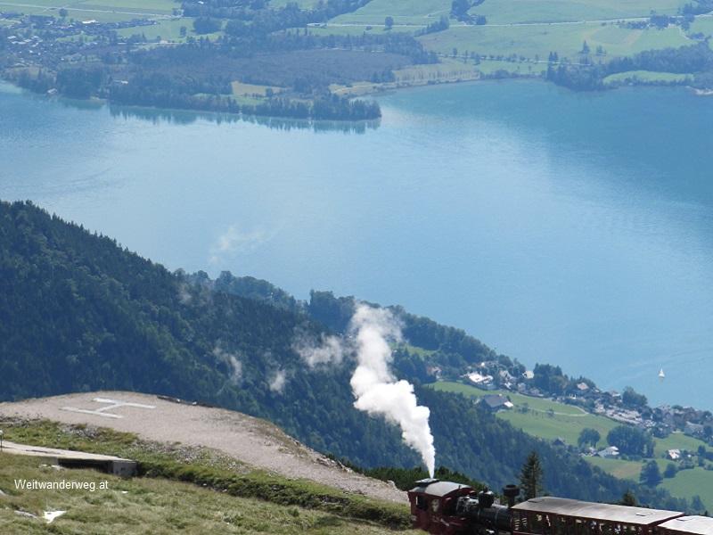 Schafbergbahn am Schafberg, Salzkammergut, Wolfgangsee, St. Wolfgang