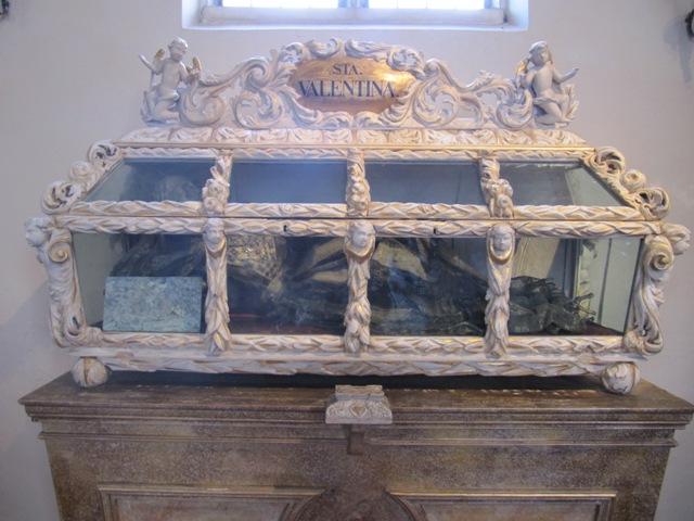 Reliquie Heilige Valentina in der Martinskirche in Drosendorf