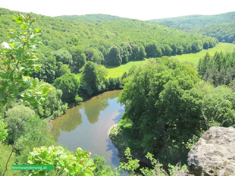 Fluss Thaya beim Umlaufberg im Waldviertel, Niederösterreich