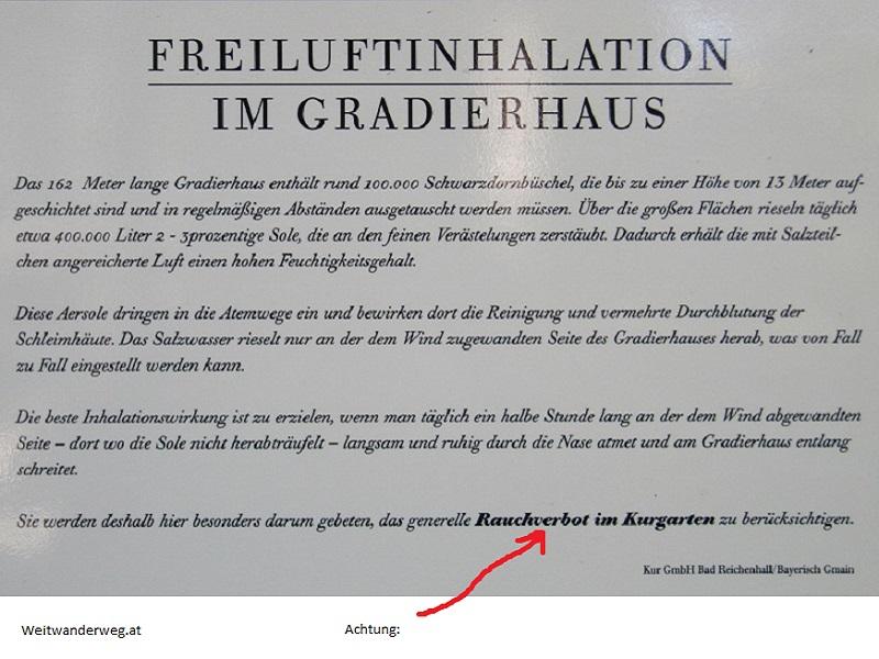 Freiluftinhalation im Gradierhaus Bad Reichenhall