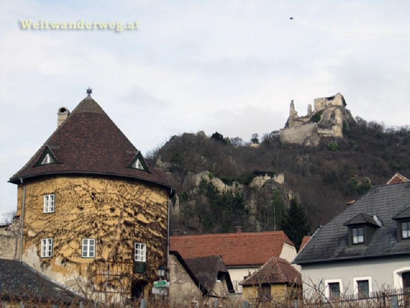 Dürnstein an der Donau am Welterbesteig Wachau, Niederösterreich