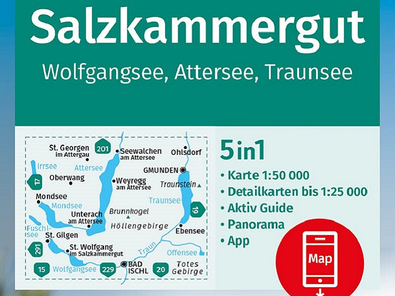 Kompass Band 18, Nördliches Salzkammergut, Wolfgangsee, Attersee, Traunsee