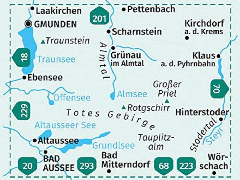 KOMPASS Karte Band 19, Totes Gebirge, Almtal, Stodertal