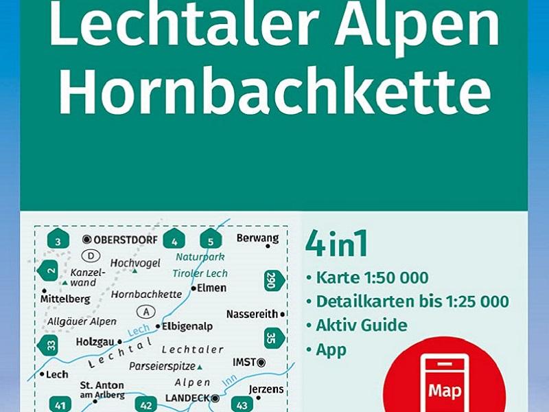 Kompass Wanderkarte Band 24, Lechtaler Alpen, Hornbachkette