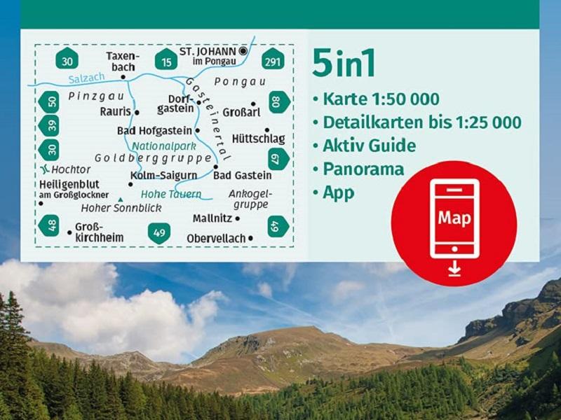 Kompass Karte Gasteinertal, Goldberggruppe, Nationalpark Hohe Tauern