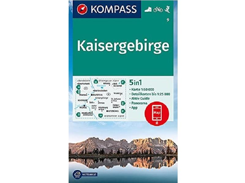 Kompass Karte Band 9, Kaisergebirge