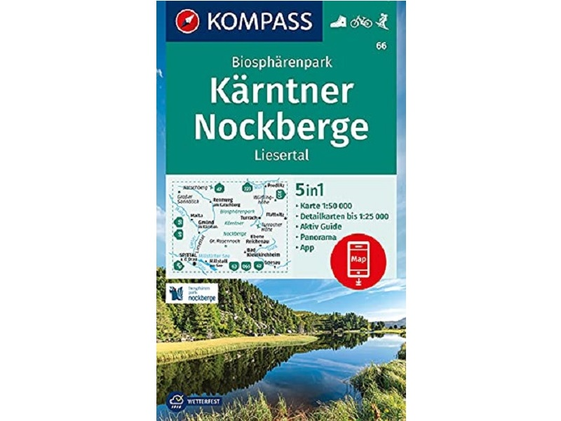 Kompass Karte 66, Biosphärenpark Kärntner Nockberge, Liesertal