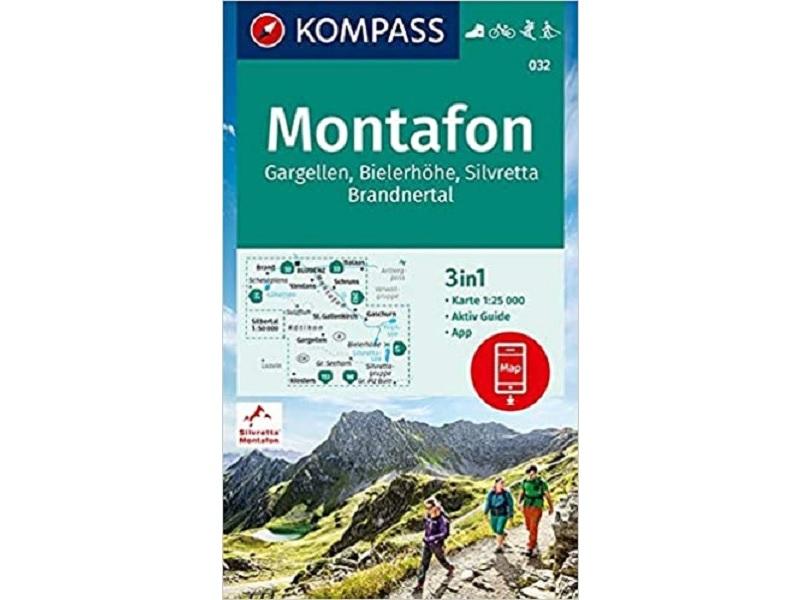 KOMPASS Karte Montafon, Gargellen, Bielerhöhe, Silvretta