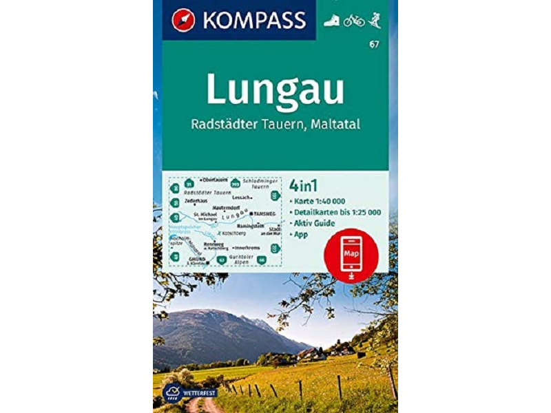 Kompass Karte 67, Lungau, Radstädter Tauern, Maltatal