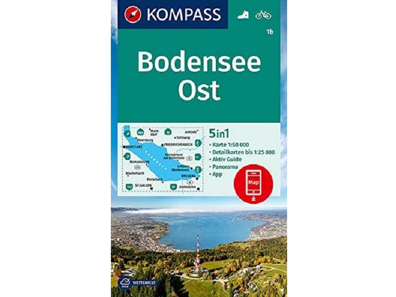 Kompass Wanderkarte, Band 1b,Bodensee-Ost