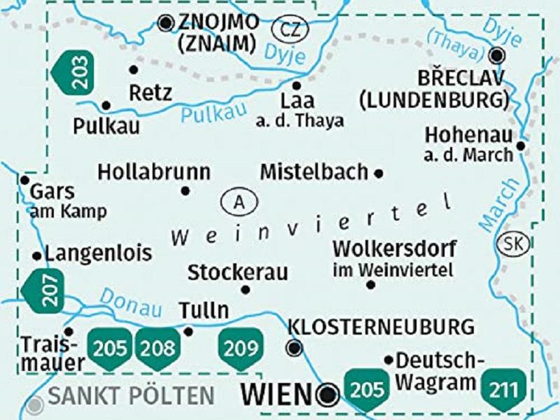 KOMPASS Karte, Band 204, Weinviertel