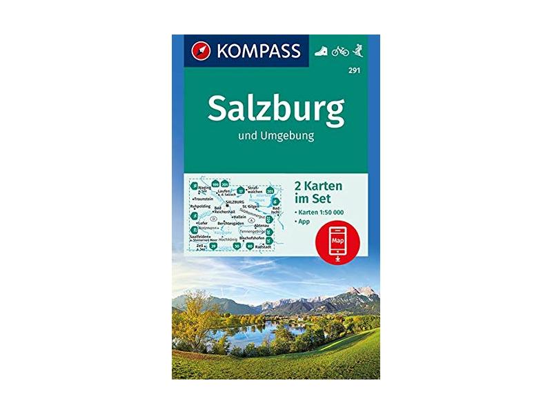 Kompass Wanderkarte Band 291, Salzburg und Umgebung
