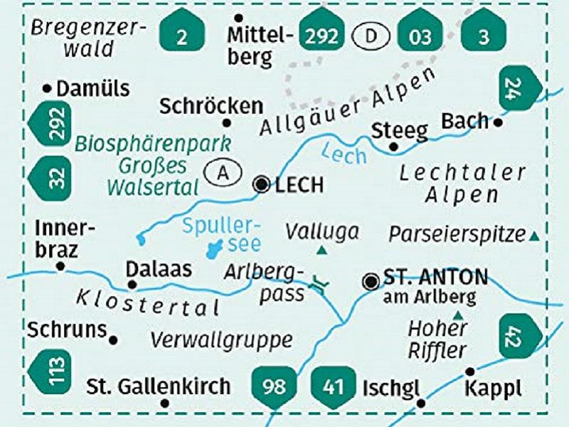 Kompass KV WK 33 Arlberg, Verwallgruppe