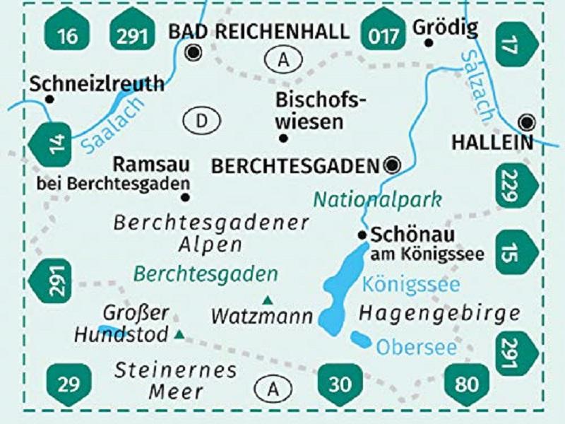 Kompass Wanderkarte, Band 794, Berchtesgadener Land, Königssee, Nationalpark Berchtesgaden