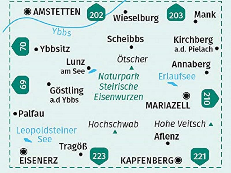 Kompass Wanderkarte, Band 212, Hochschwab, Mariazell, Eisenwurzen