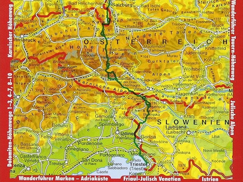 Rother Wanderführer Alpenüberquerung Salzburg - Triest