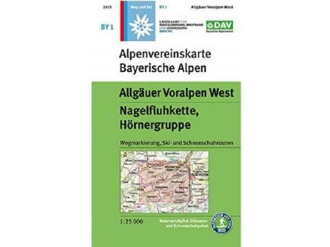Alpenverein Topographische Karte BY1, Allgäuer Voralpen West, Nagelfluhkette, Hörnergruppe