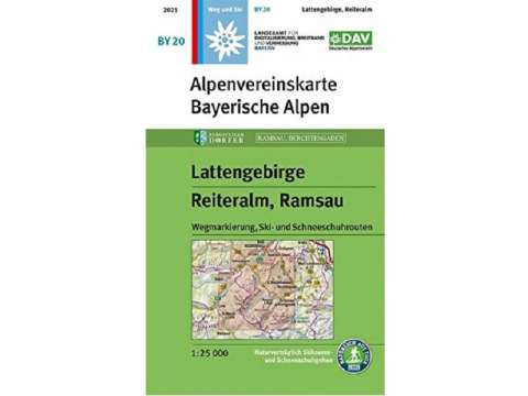 Alpenvereinskarte Bayerische Alpen, Lattengebirge, Reiteralm, Ramsau