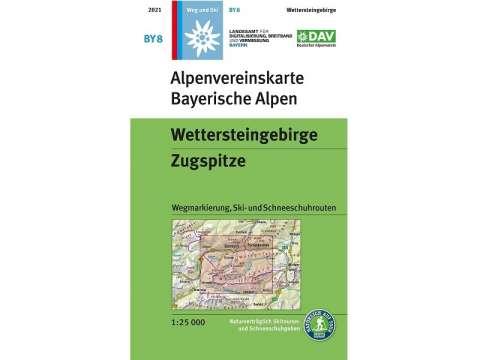 Karte BY8, Bayerische Alpen, Wettersteingebirge, Zugspitze