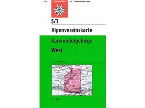 Alpenvereinskarte 5/1, Karwendelgebirge - Westliches Blatt