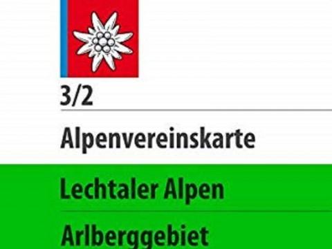 Alpenvereinskarte 3/2, Lechtaler Alpen, Arlberggebiet