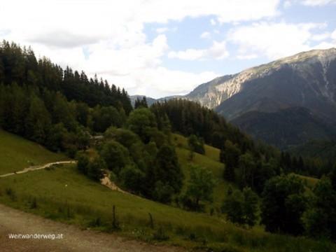 Veitschbachtörl, Aussicht zur Hohen Veitsch, Steiermark