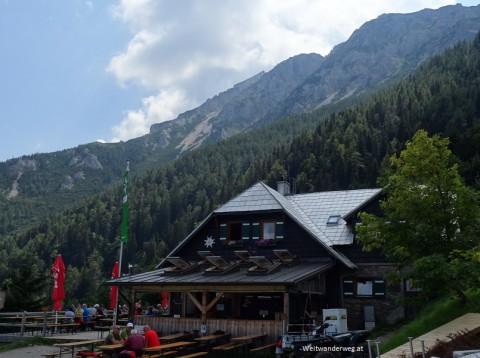 Die Edelweisshütte am Schneeberg in Niederösterreich