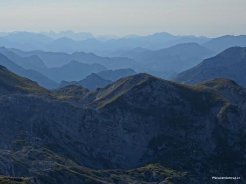 Ausblick vom Hochschwab, Alpengipfel, Alpen, Ostalpen