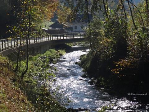 Fluss Pielach bei Schwarzenbach.