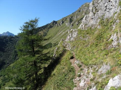 Knappensteig, Wanderpfad zwischen Leobner Hütte und Paßhöhe Präbichl