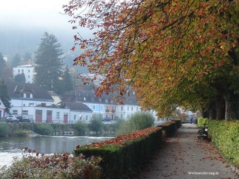 Flusspromenade an der Erlauf in Scheibbs, Mostviertel, Niederösterreich