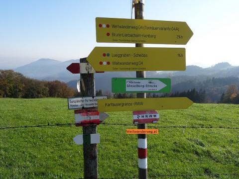 Österreichischer Weitwanderweg 04, Voralpenweg, Mostviertel, Niederösterreich.
