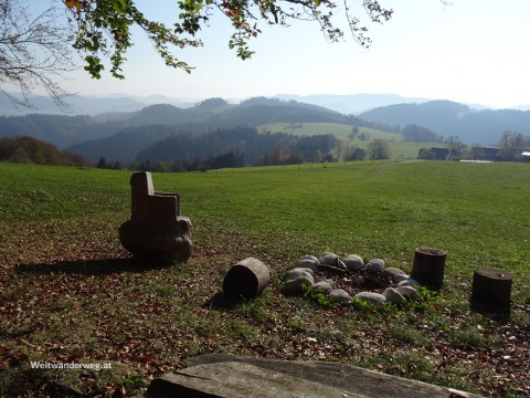 Voralpenweg im Mostviertel, Niederösterreich, Blick nach Süden