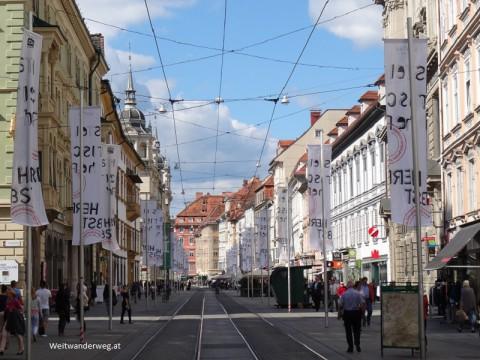 Die Herrengasse in Graz, Steiermark