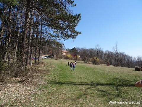 Waxeneck Landschaft mit Wanderern