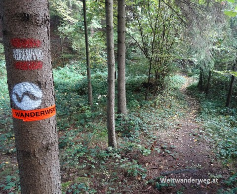 Wanderweg Markierung