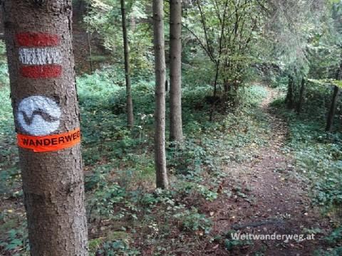 Wanderweg Markierung Nibelungengau