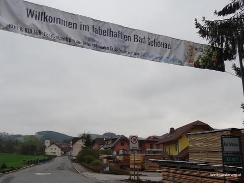 Begrüßungsbanner Bad Schönau