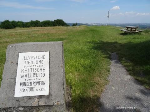 Der Gipfel des Braunsberg bei Hainburg an der Donau